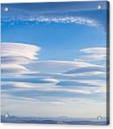 Lenticular Clouds Forming In The Troposphere Acrylic Print by Semmick Photo