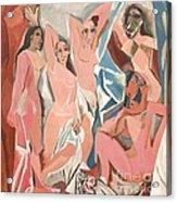Les Demoiselles D' Avignon Acrylic Print by Reproduction