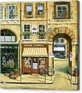 Les Rues De Paris Acrylic Print by Marilyn Dunlap