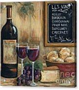 Les Vins Acrylic Print by Marilyn Dunlap