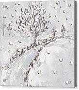 Let It Snow Acrylic Print by Becky Kim