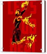 Lets Go Heat Acrylic Print by Toxico