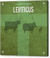 Leviticus Books Of The Bible Series Old Testament Minimal Poster Art Number 3 Acrylic Print by Design Turnpike