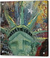 Liberty Breaking Out Acrylic Print by Trish Bilich