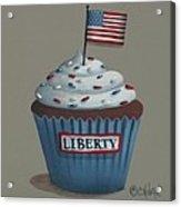 Liberty Cupcake Acrylic Print by Catherine Holman