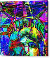 Liberty Head Abstract 20130618 Square Acrylic Print by Wingsdomain Art and Photography