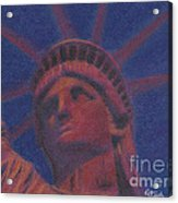 Liberty In Red Acrylic Print by Stephen Cheek II