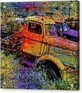 Liberty Truck Abstract Acrylic Print by Robert Jensen