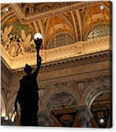 Library Of Congress - Washington Dc - 01134 Acrylic Print by DC Photographer