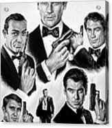 Licence To Kill  Bw Acrylic Print by Andrew Read