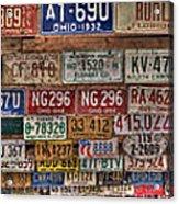 License To Drive Acrylic Print by Debra and Dave Vanderlaan