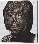 lieutenant commander Worf Star Trek TNG Acrylic Print by Giulia Riva