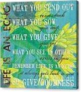 Life Is An Echo Acrylic Print by Debbie DeWitt
