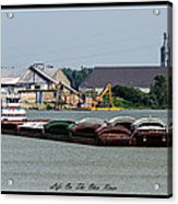 Life On The Ohio River 2 Acrylic Print by David Lester