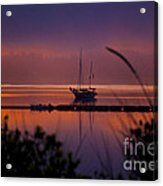 Lifting Morning Fog Acrylic Print by Ron Roberts