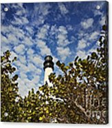 Lighthouse At Bill Baggs Florida State Park Acrylic Print by Eyzen Medina