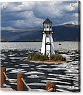 Lighthouse In Lake Dillon Acrylic Print by Juli Scalzi
