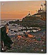 Lighthouse Sunset  Acrylic Print by Gracia  Molloy