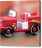 Lightning Mcqueen Acrylic Print by Thomas Woolworth