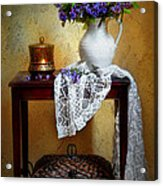 Lilacs And Lace Acrylic Print by Diana Angstadt