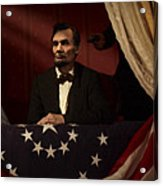 Lincoln At Fords Theater 2 Acrylic Print by Ray Downing