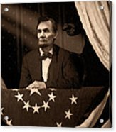 Lincoln At Fords Theater Acrylic Print by Ray Downing