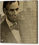 Lincoln At Gettysburg Acrylic Print by Ray Downing