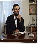Lincoln At His Desk 2 Acrylic Print by Ray Downing