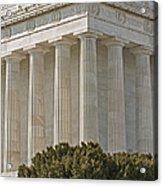 Lincoln Memorial Pillars Acrylic Print by Susan Candelario