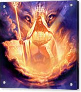 Lion Of Judah Acrylic Print by Jeff Haynie