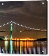 Lions Gate Bridge In Colour Acrylic Print by Naman Imagery