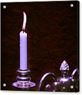Lit Candle Acrylic Print by Amanda And Christopher Elwell