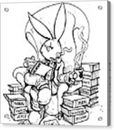 Literary Playboy Acrylic Print by John Ashton Golden