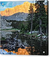 Little Bear Peak And Lake Como Acrylic Print by Aaron Spong
