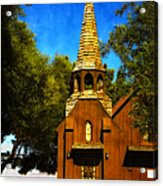 Little Church Of The West Acrylic Print by Julie Palencia