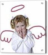 Little Girl Angel Acrylic Print by Lane Erickson
