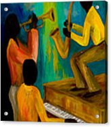 Little Jazz Trio I Acrylic Print by Larry Martin