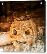 Little Orange Face Acrylic Print by Cat Connor
