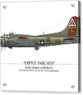 Little Patches B-17 Flying Fortress - White Background Acrylic Print by Craig Tinder