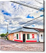 Little Pulperia On The Corner - Costa Rica Acrylic Print by Mark E Tisdale