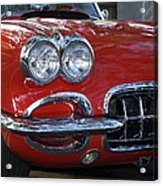 Little Red Corvette Acrylic Print by Bill Gallagher