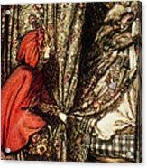 Little Red Riding Hood Acrylic Print by Arthur Rackham