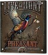 Live To Hunt Pheasants Acrylic Print by JQ Licensing