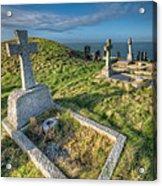 Llanbadrig Cemetery Acrylic Print by Adrian Evans
