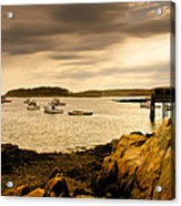 Lobster Boats Cape Porpoise Maine Acrylic Print by Bob Orsillo