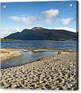 Loch Lomond Pano Acrylic Print by Jane Rix
