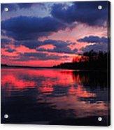Locust Sunset Acrylic Print by Raymond Salani III