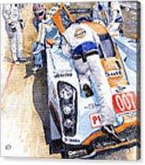 Lola Aston Martin Lmp1 Gulf Team 2009 Acrylic Print by Yuriy  Shevchuk