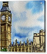 London England Big Ben Acrylic Print by Irina Sztukowski