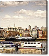 London From Thames River Acrylic Print by Elena Elisseeva